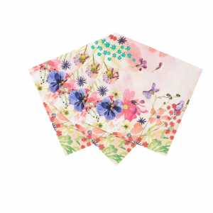 Serviettes de fête cocktail blossom girls